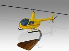 Robinson R44 Raven II ZS-HAX Mahogany Wood Desktop Helicopter Model