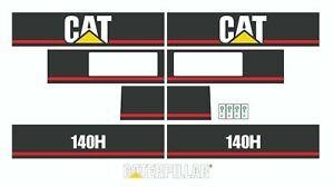 Caterpillar 140H Motor Grader Decals / Adhesives / Stickers Complete Set / Kit
