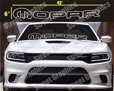 MOPAR WHITE OUTLINE  WINDOW DECAL..CHARGER, CHALLENGER, RAM, OR ANY DODGE MODEL