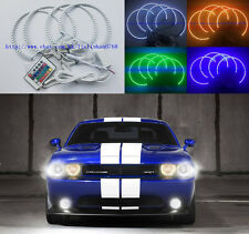 4pcs RGB Multi-Color LED Angel Eyes Halo Rings For Dodge Challenger 2008-2014