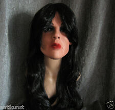 Bundle: MARILYN MASK +LASHES +BLACK WIG - Female Latex Latexmaske Crossdresser