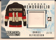 DANIEL ALFREDSSON 2016-17 LEAF ITG HEROES & PROSPECTS GAME USED JERSEY RELIC /25