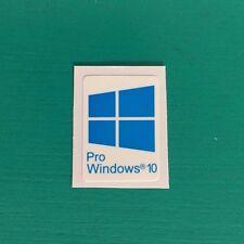 1 PCS Windows 10 Pro Blue Sticker Badge Logo Decal Cyan Color Win 10 USA Seller
