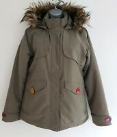 MERRELL ESKER Opti-Warm Women's Greyish Faux-fur Hood Jacket. Size Small(Petite)