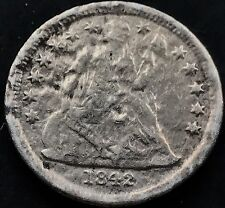 1842 O Seated Liberty Dime 10c nice RARE Early Date New Orleans F Details #5297