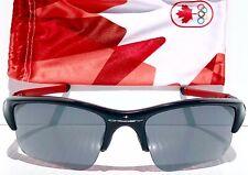 NEW* Oakley FLAK JACKET Black CANADA Olympic Black Iridium XLJ Sunglass w case