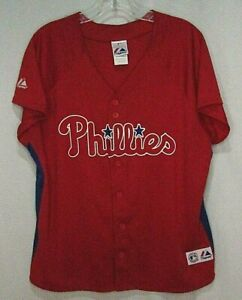 Philadelphia Phillies Majestic Stitched Buttondown MLB Youth Jersey