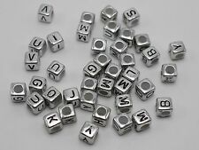 2500 Mixed Alphabet /letter Acrylic Cube Beads 6x6mm