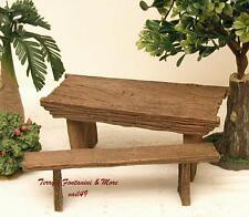 "Fontanini Italy 5""-7.5"" Series 2Pc Bench/Table Nativity Village Set 50898 Nib"