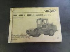 HAMM 2320 2320D 2322DS 2322 DSB Roller Operating Manual with Safety Information