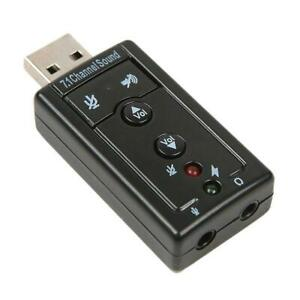 External 7.1Ch USB Sound Card Adaptor for use with Boom Headset