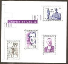"FRANCE 2020  Bloc Feuillet  "" Charles de GAULLE "" NEUF**LUXE MNH"