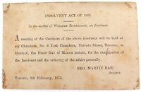 .RARE 1875 CANADA / TORONTO PRIVATELY ISSUED UNUSED POSTCARD. PRE-PAID QV 1c