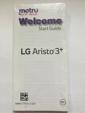 LG Aristo 3+ Cell Phone Welcome Start Guide Manual New paperback English/Spanish