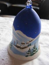 12 Stück 14 cm grosse Weihnachtsglocken aus Glas handbemalt neu