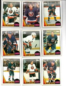 1987-88 TOPPS NEW YORK ISLANDERS TEAM SET  (11 CARDS)