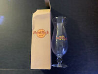 Hard Rock Cafe Baltimore Hurricane Cocktail Drink Recipe Glass w/Box