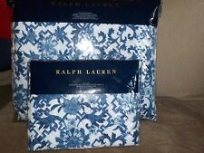 Ralph Lauren Dorsey Lotus Blue Twin Quilted Coverlet & 1 King Sham Nwt Msrp $345
