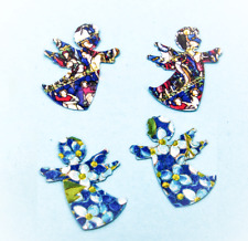 Forget me not seed favours cherub angels stained glass window design x 100