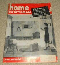 October 1955 Home Craftsman MCM Furniture Interior Swedish Modern Sofa Magazine
