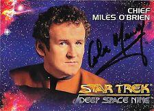 CHIEF MILES O'BRIEN, 1993 STAR TREK DEEP SPACE NINE , HAND SIGNED TRADING CARD