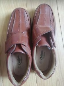 Cotton Traders - Mens Tan Shoes Size 11 Adjustable Fastening