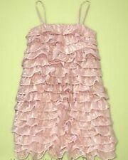 NWT 2 yrs Baby Gap GARDEN PARTY iridescent Chiffon RUFFLE PEACH DRESS KEY WEST