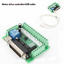 5 Axis CNC Breakout Board optical coupler MACH3 Stepper Motor Driver&USB cable