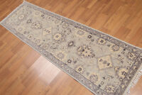 """2'4""""x8' Hand Knotted Tabrizz Wool runner Traditional Oriental Area rug 8514 Gray"""