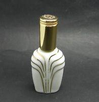 VINTAGE LIMOGES FRANCE MARCEL FRANCK PERFUME ATOMIZER WHITE GOLD TRIM PORCELAIN