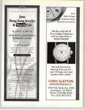 Hong Kong Jewelry & Watch Fair - Patek Philippe - Chris Slatton 1993 Print Ad