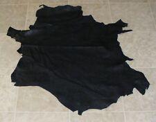 (ZXE9968-1) Hide of Black Printed Lambskin Leather Hide Skin