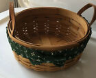 Reduced Longaberger Darning Basket with Classic Green Garter with Bow