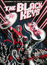 The Black Keys 2012 Poster 11/3/12 Auckland Vector Arena Signed & Numbered #/30