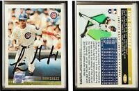 Luis Gonzalez Signed 1996 Topps #278 Card Chicago Cubs Auto Autograph