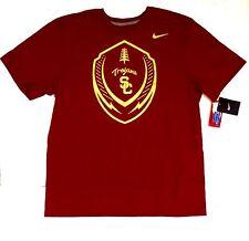 a368b421 USC Trojans Football Crimson Gold Nike Tee Shirt Men's Sz Small S Maroon NWT
