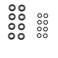 BMW 8 Upper 8 Lower 16 Pack O-Rings Kit Fuel Injector Nozzle Rubber Seals New