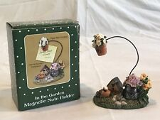 New listing N.I.B. In The Garden Magnetic Table Top Note Photo Holder Bird House Flower Pot