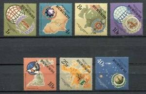 29629) Burundi 1965 MNH New Int. Cooperation - Space 7v