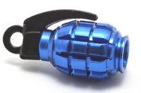 4x Handgranate Ventilkappen Blaue Granate Auto PKW Motorrad Bike Farbe: Blau