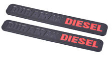 2x Duramax Diesel Truck Emblem for SILVERADO 2500 3500 HD GMC Sierra Black Red