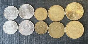 Vietnam 200, 500, 1000, 2000, 5000 dong coins 2003