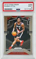 NASSIR LITTLE ROOKIE 2019 PANINI PRIZM REFRACTOR CARD PSA GRADED 9 TRAIL BLAZERS