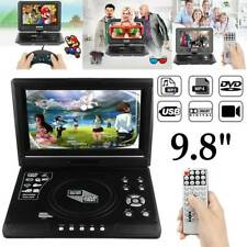 "Portable 9.8"" DVD Player 270° Swivel Screen Free 300 Games SD USB FM Radio TV"