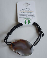 Brazilian AGATE BRACELET - US Seller - Natural Gemstone Jewelry - NEW A32