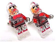Handmade LEGO® Star Wars Stormtrooper Captain Transparent Cufflinks, W/Gift Box!