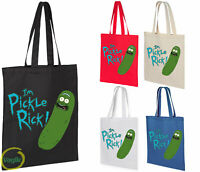 FUNNY RICK AND MORTY I M PICKLE RICK SHOPPING COTTON TOTE BAG IDEAL GIFT PRESENT