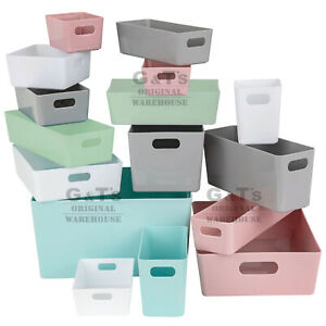 Wham Studio Basket Multi-Purpose Bathroom Kitchen or Home Office Storage Boxes