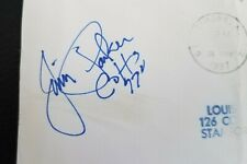 Jim Parker signed autographed envelope, Ohio State, Baltimore Colts