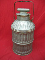 Vintage  Metal 5 Gallon Motor Oil Can Jug Service Station